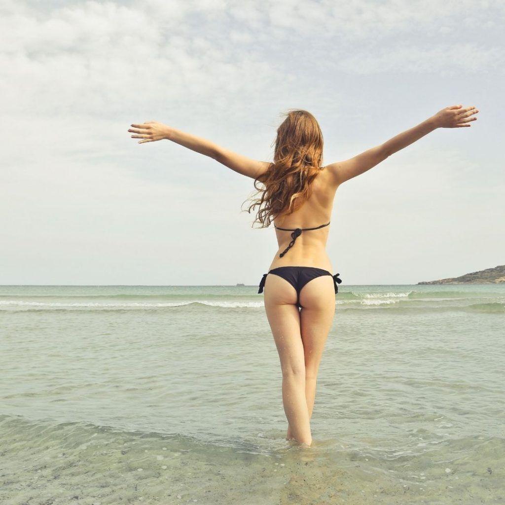 Beach Girl enjoying her time at the beach