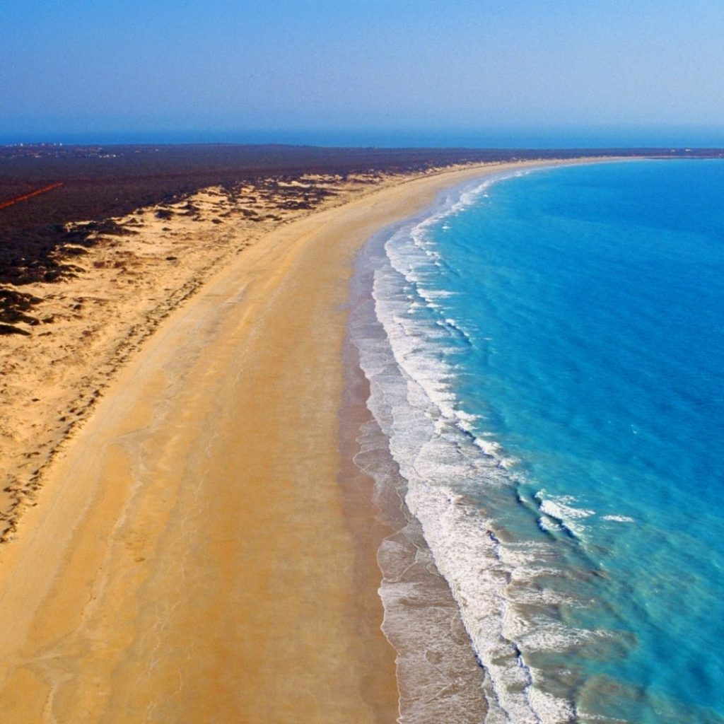 Cable Beach in Western Australia is one of the most popular beaches in the world.