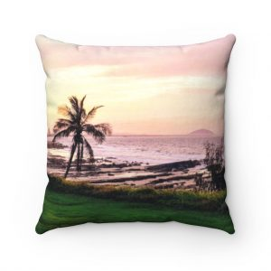 This Sunset Beach Cushion is one of many beach themed homewares you can buy at the Beach Scenes store!