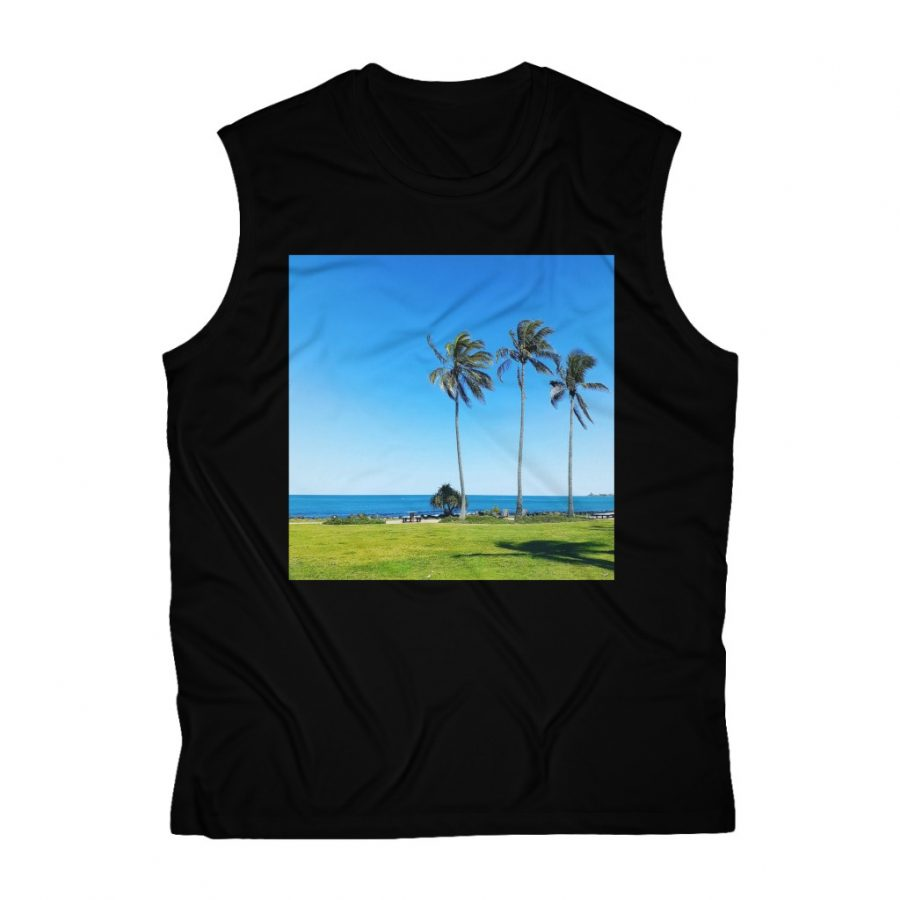 This Sleeveless Performance Palm Tee is one of a great range of t-shirts you can buy at the Beach Scenes online store.