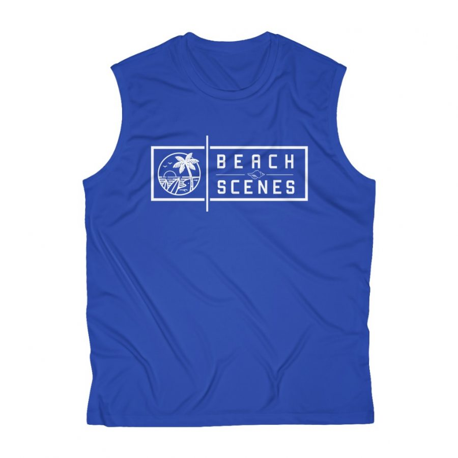 This Mens Sleeveless Performance Tee is one of a range of beach themed t-shirts you can buy from the Beach Scenes store!