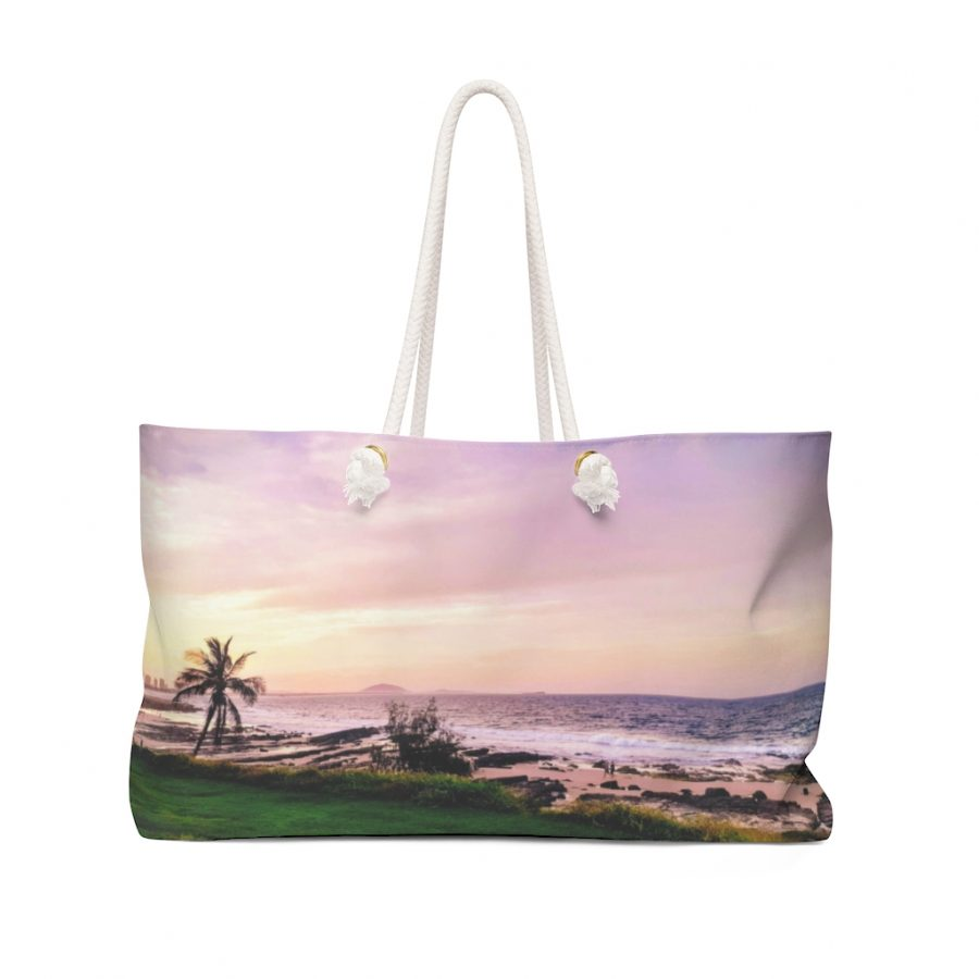 This Weekender Bag Sunset Beach is one of a range of awesome tote bags you can buy from the Beach Scenes store!