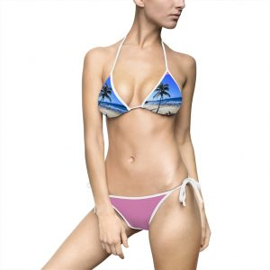 This awesome Palm Tree Bikini Violet is one of a range of women's swimwear you can buy from the Beach Scenes online store!