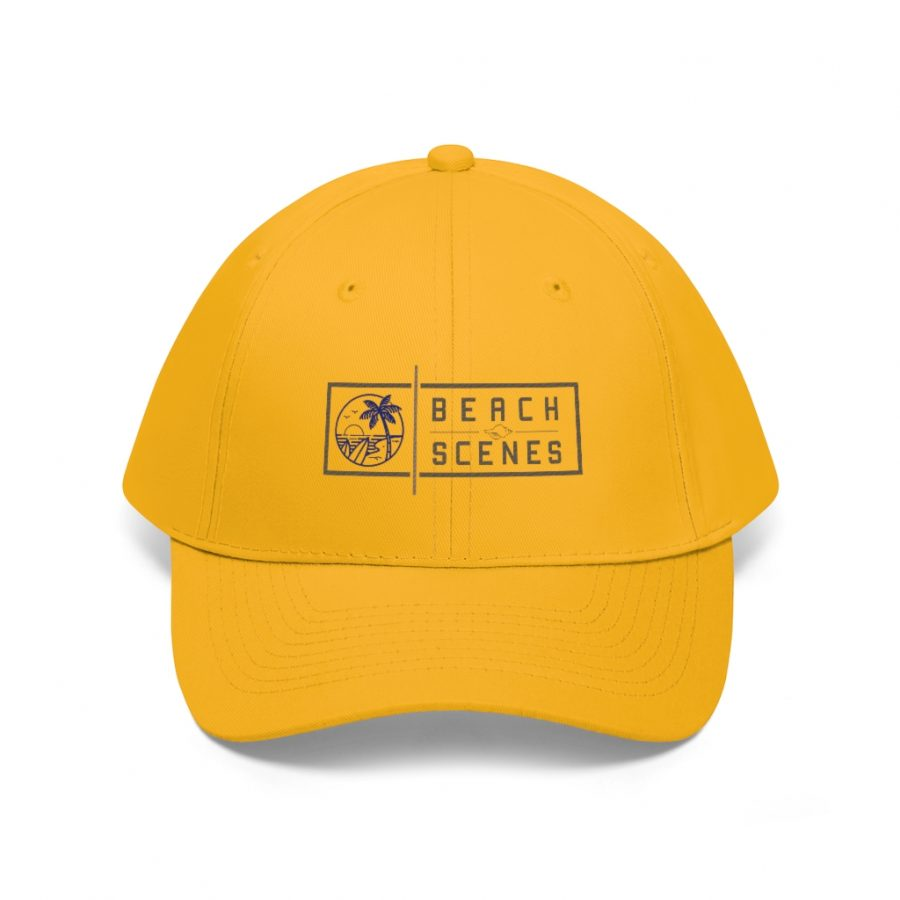 This Unisex Twill Hat Colour Logo is one of a range of beach themed baseball caps you can buy from the Beach Scenes store!