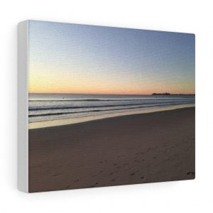 This Beach Sunrise at Alexandra Headlands Canvas is one of a range of beach themed canvas artwork you can buy from the Beach Scenes store.