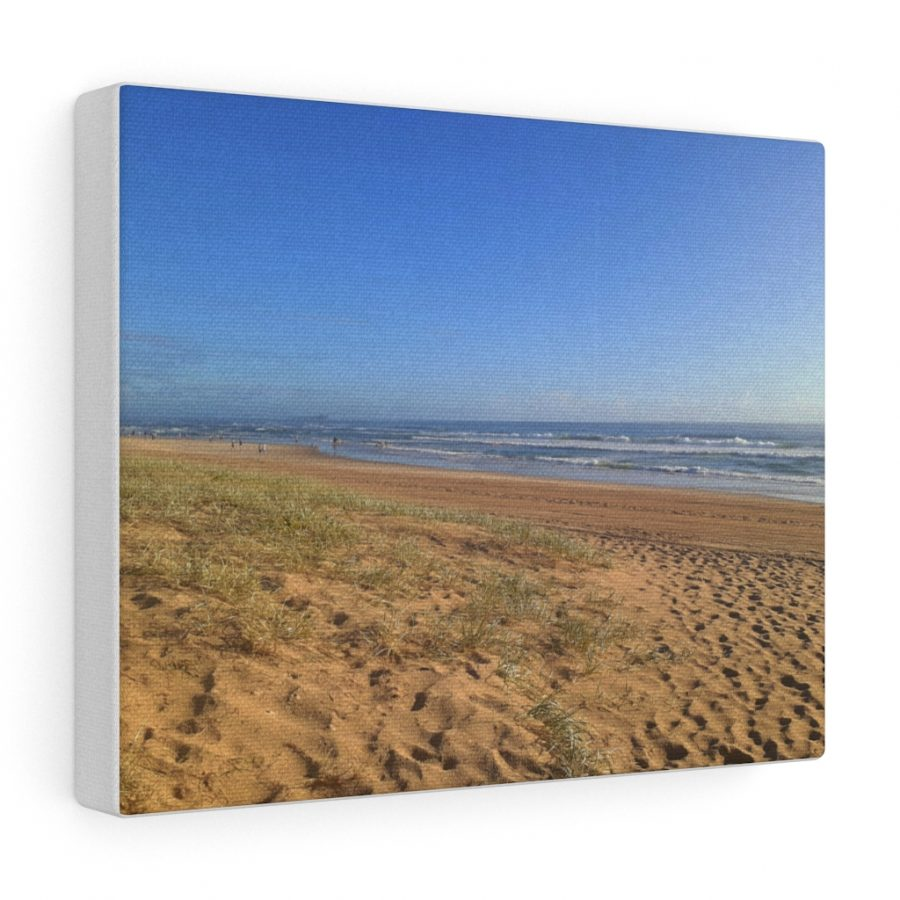 This Minimalist Beach Canvas is one of many beach themed wall art pieces you can buy from the Beach Scenes online store.