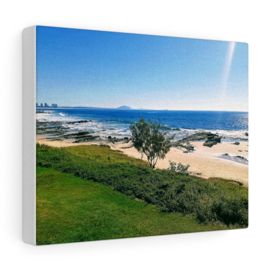 This Mooloolaba Beach Canvas is one of many beach themed wall art pieces you can buy from the Beach Scenes online store.