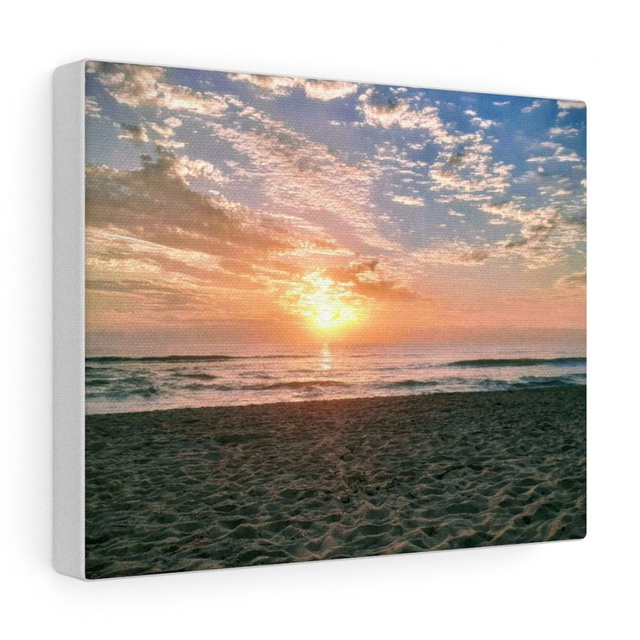 This Maroochydore Beach Sunrise Canvas is one of many beach themed wall art pieces you can buy from the Beach Scenes online store.