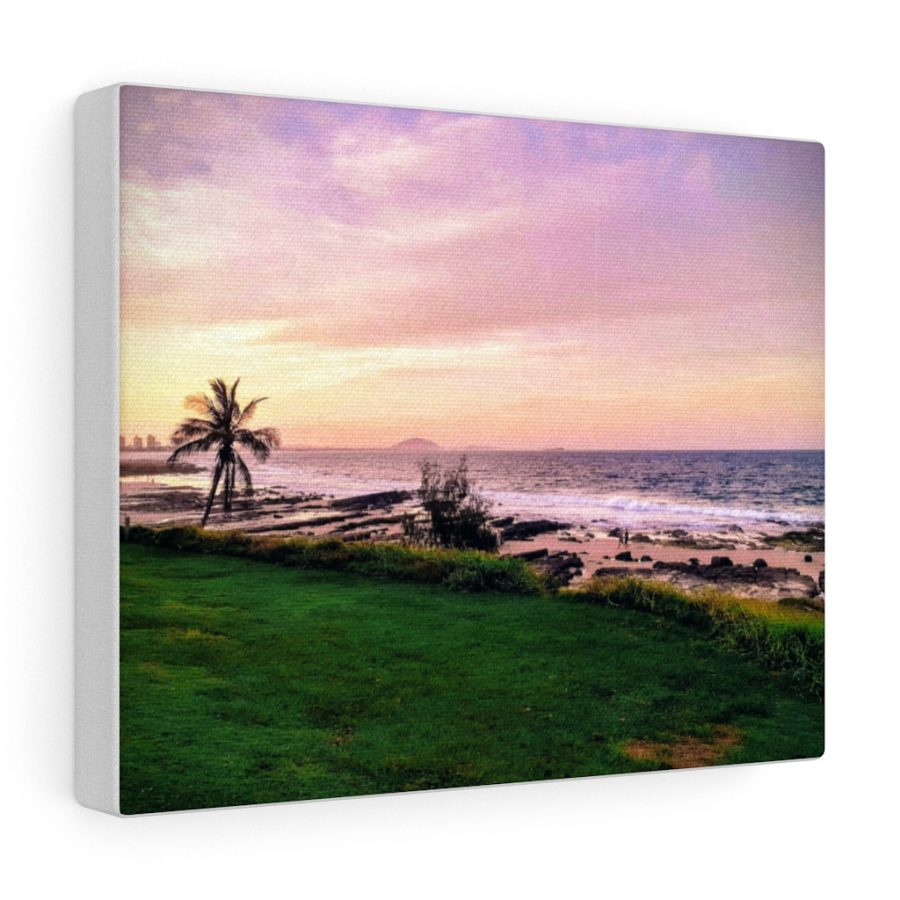 This Mooloolaba Beach Sunset Canvas is one of a wide range of beach inspired wall art you can buy from the Beach Scenes online store.