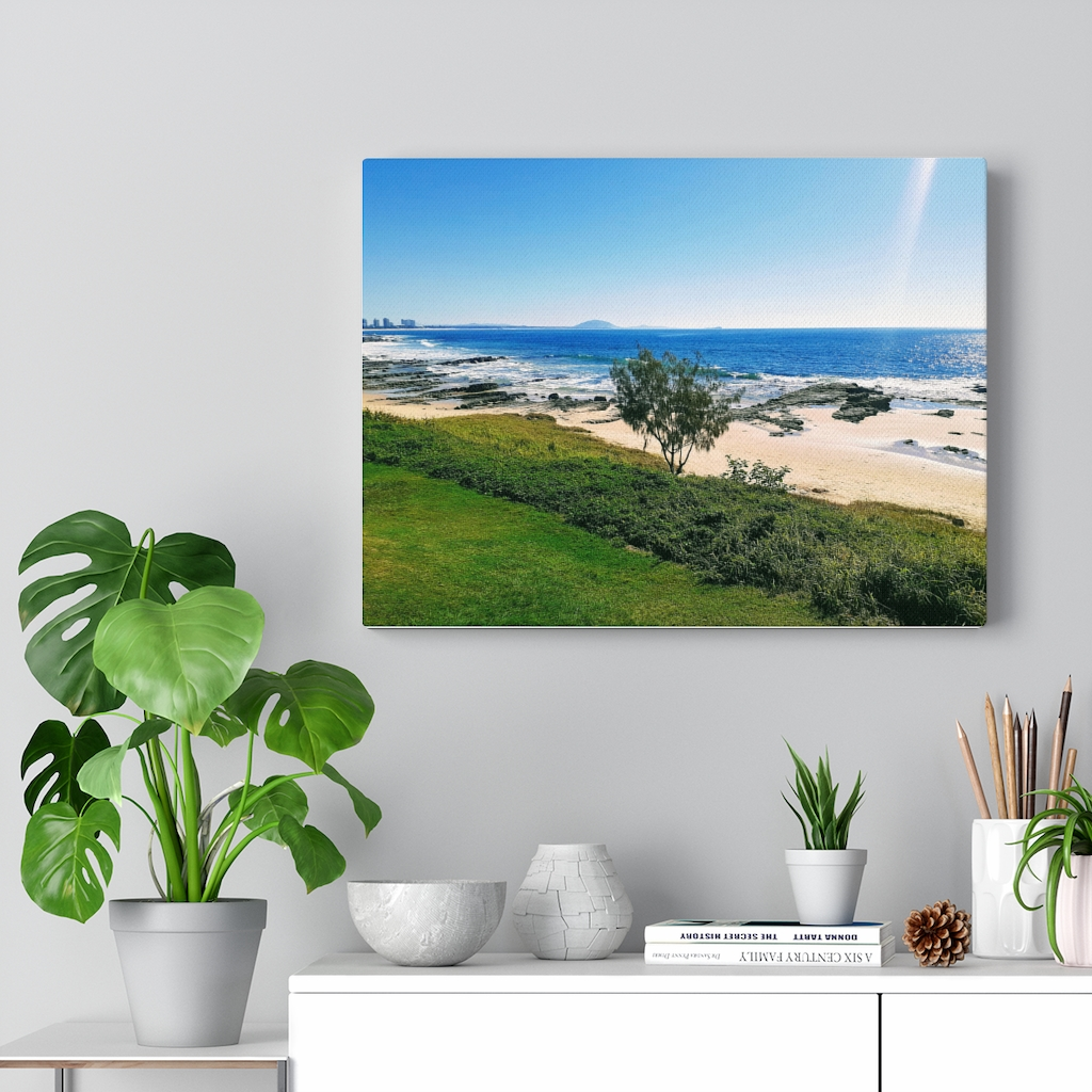 This Mooloolaba Beach Canvas is available to buy from the Beach Scenes online store.