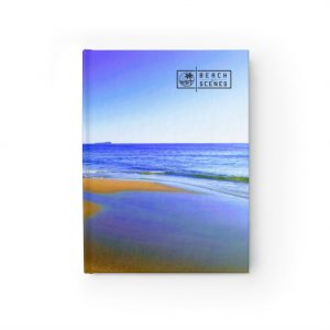 Get creative in your writing or drawing with our beach scenes journal.