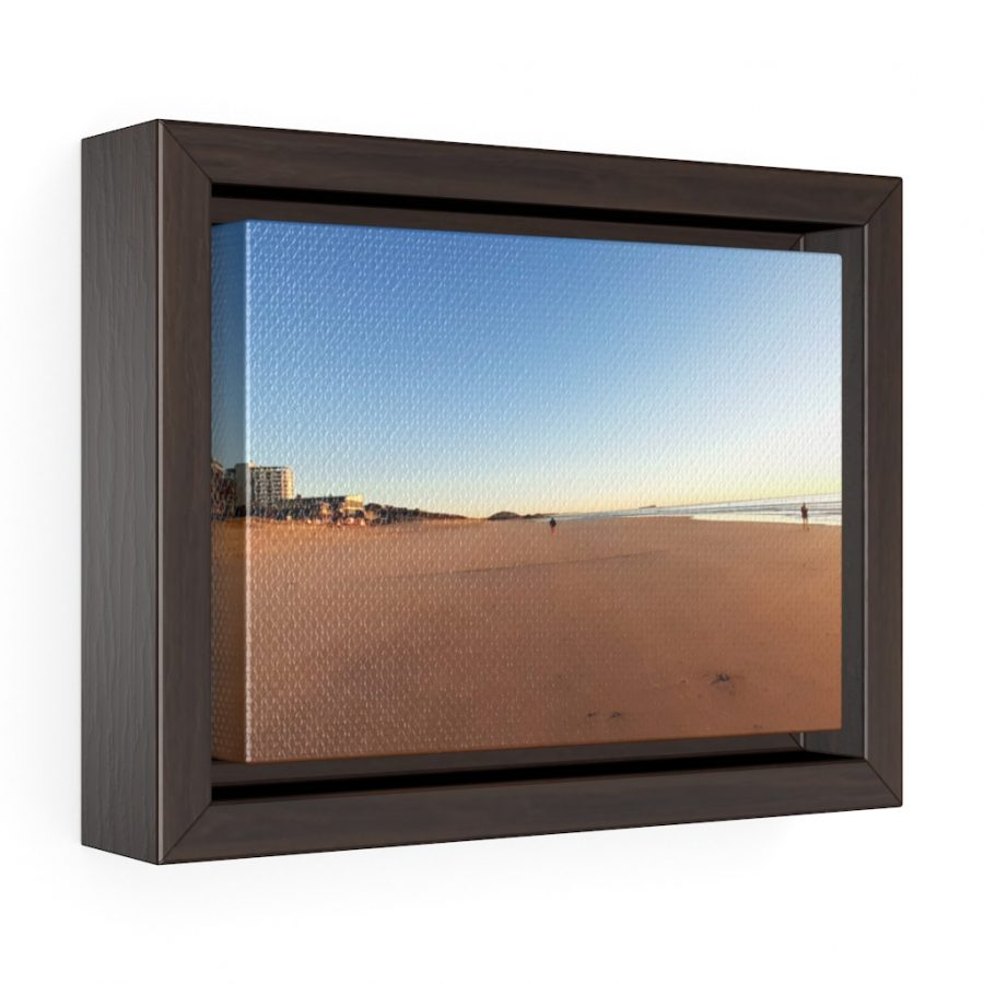 This Golden Sand of Maroochydore Beach Framed Canvas is one of a wide range of beach inspired wall art you can buy from the Beach Scenes online store.