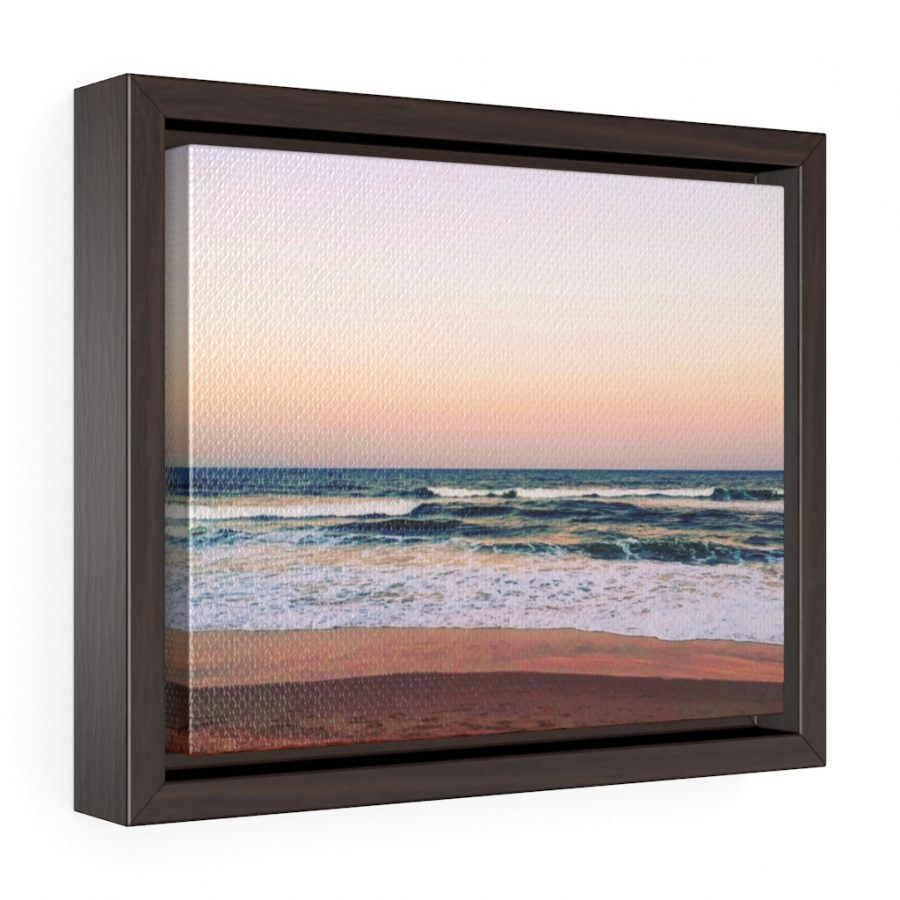 This Sunset Colours on the Beach Framed Canvas is one of a range of cool beach themed wall art you can buy from the Beach Scenes online store.