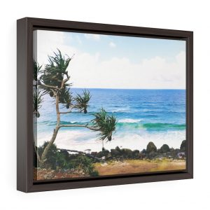 This Crashing Waves at Coolangatta Beach Framed Canvas is available to buy from the Beach Scenes online store.