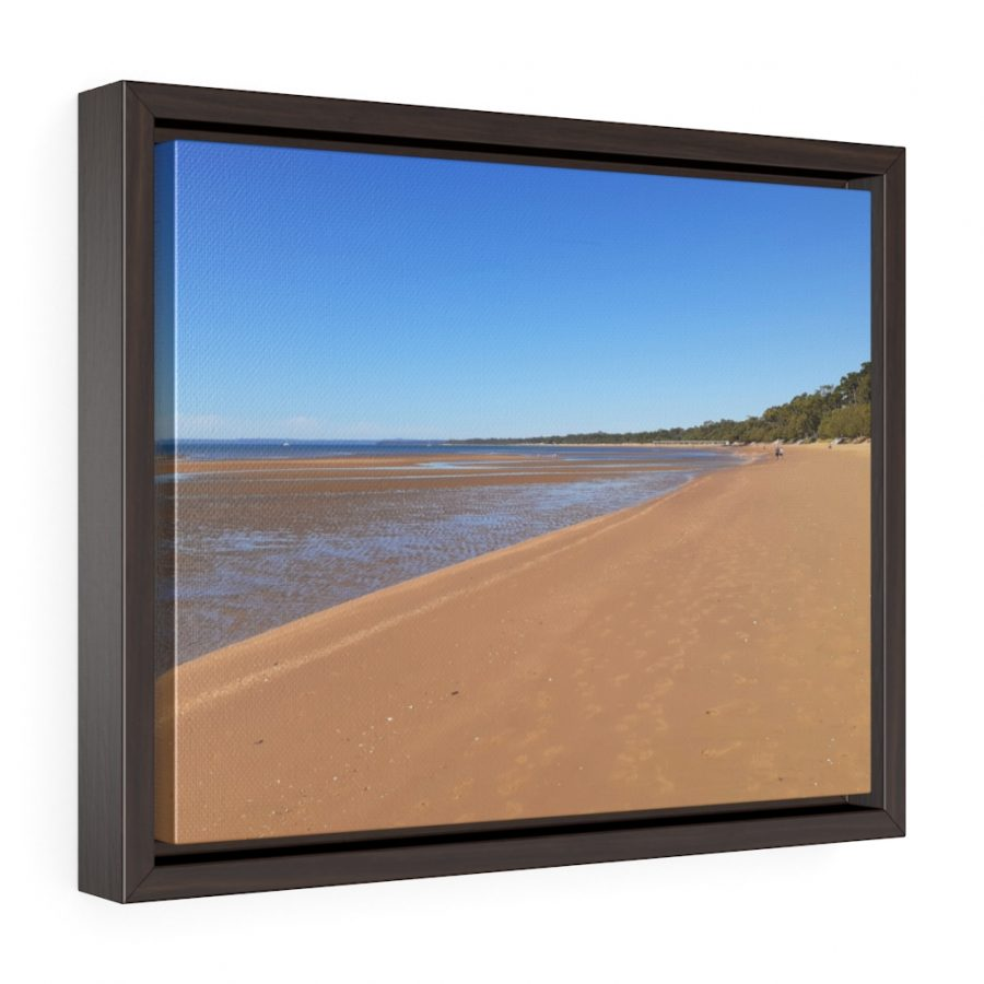 This Golden Sandy Beach Framed Canvas is available to buy from the Beach Scenes online store.