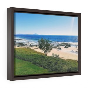 This Mooloolaba Beach Framed Canvas is one of a wide range of beach themed wall art you can buy from the Beach Scenes online store.