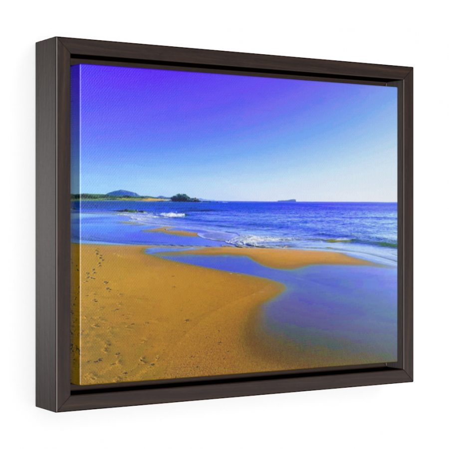 This Blues at Cotton Tree Beach Framed Canvas is one of many beach themed wall art pieces you can buy from the Beach Scenes online store.