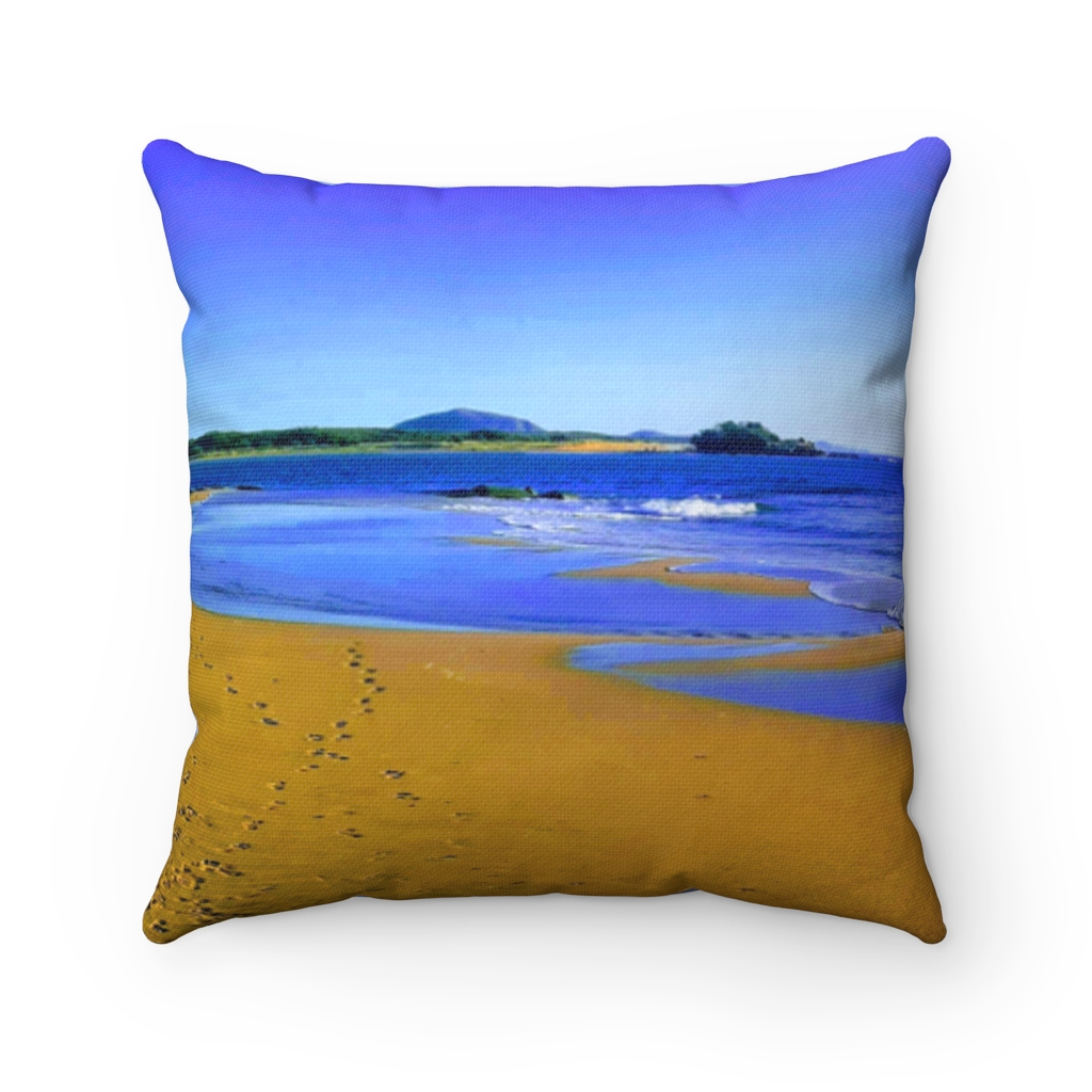 This Blues at Cotton Tree Beach Cushion is available to buy from the Beach Scenes online store.