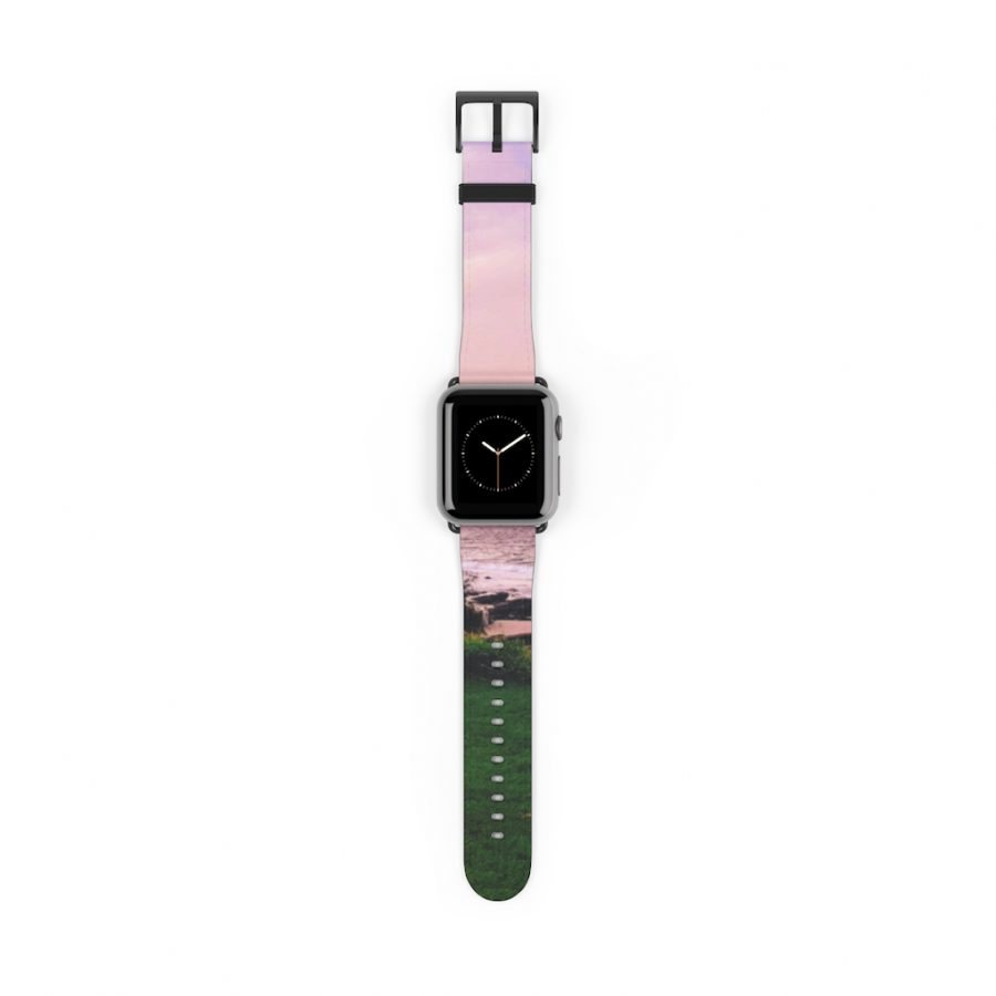 This Beach Sunset Watch Band is one of a range of beach themed products you can buy from the Beach Scenes online store.