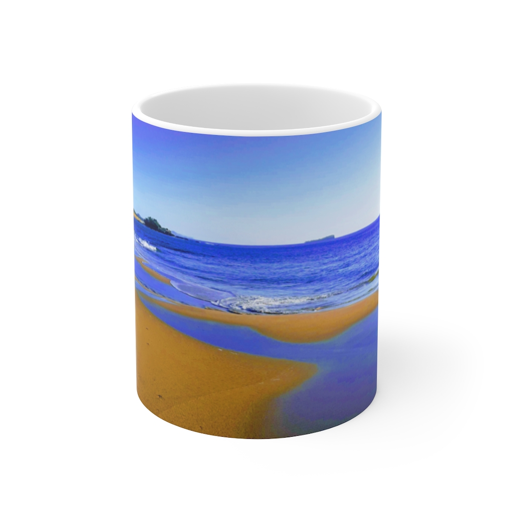 This Blues at Beach Ceramic Mug is available to buy from the Beach Scenes online store.