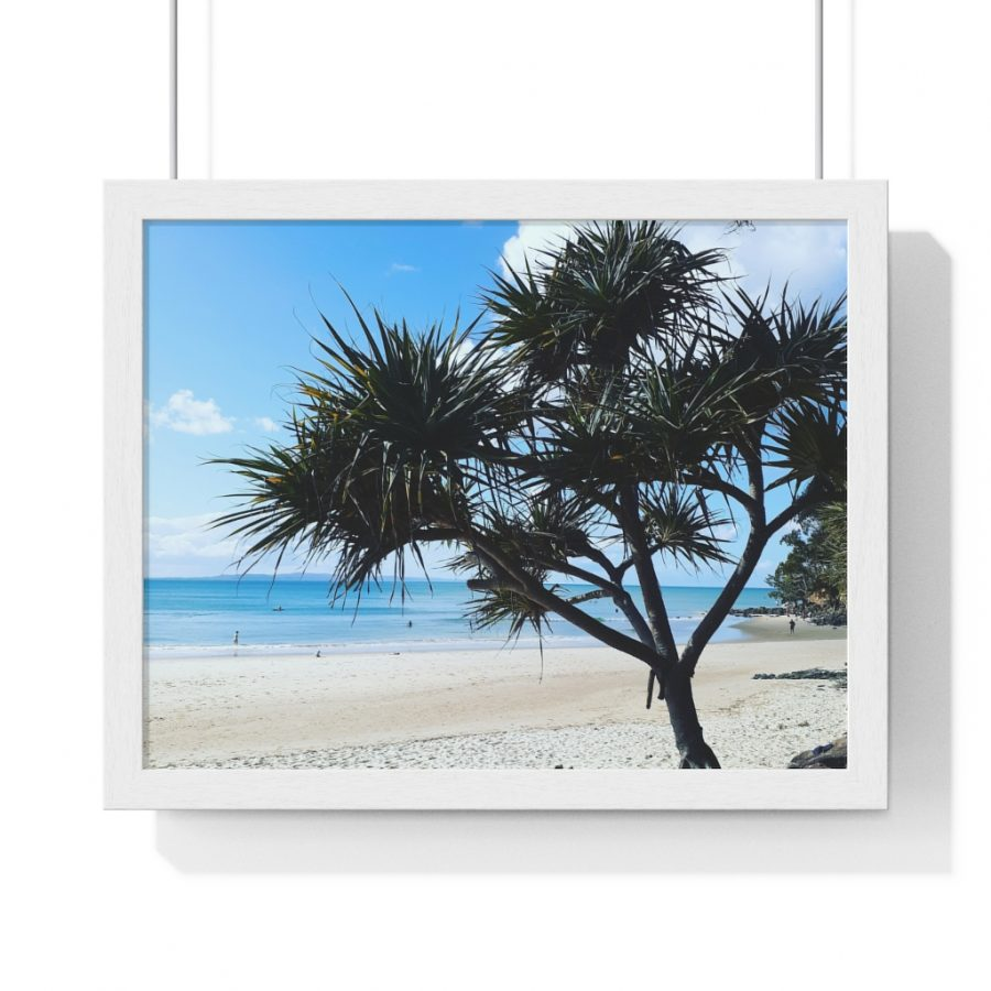 This Pandanus Trees at Noosa Framed Horizontal Poster is available to buy from the Beach Scenes online store.