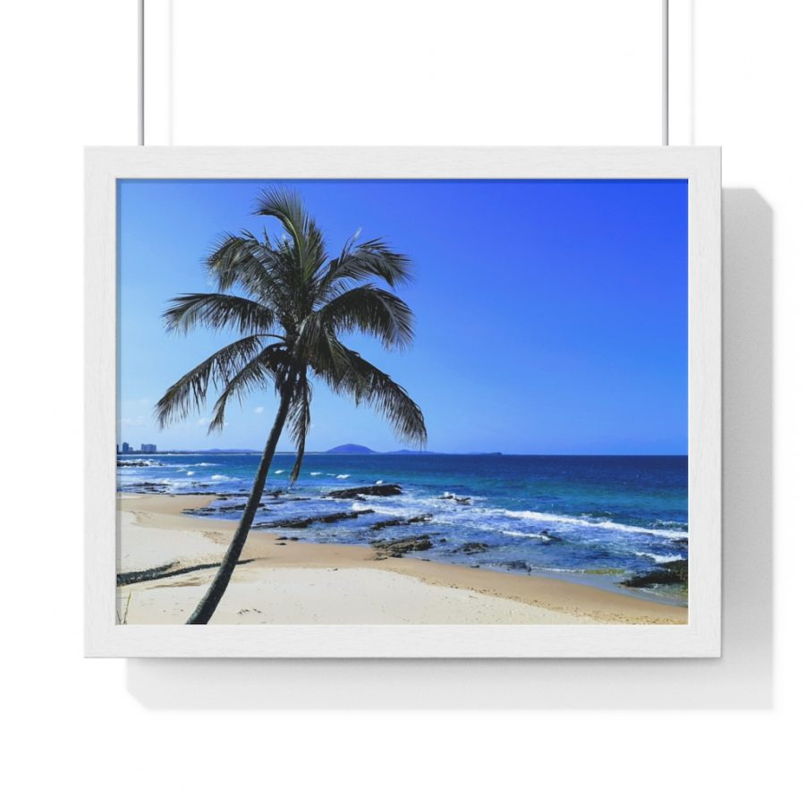This Palm Tree Framed Horizontal Poster is one of many beach themed wall art pieces you can buy from the Beach Scenes online store.