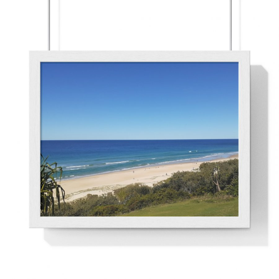 This View of Sunrise Beach Framed Poster is one of many cool beach themed art work pieces you can buy from the Beach Scenes online store.