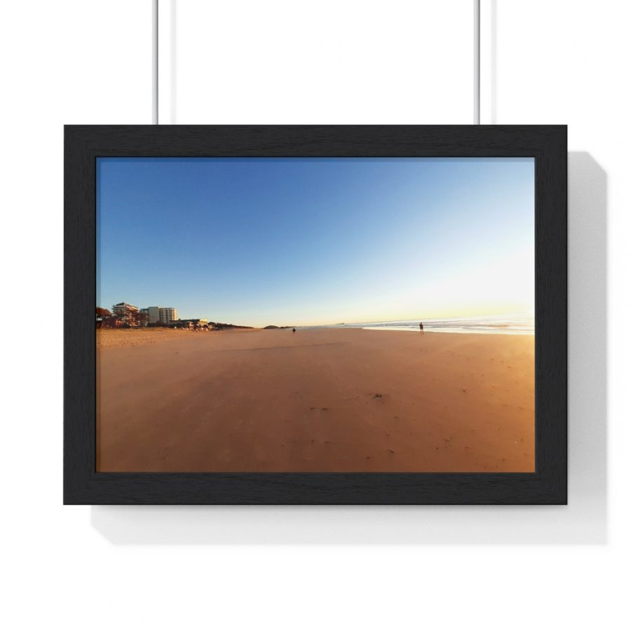 This Golden Sand of Maroochydore Beach Framed Horizontal Poster is one of a wide range of beach themed wall art you can buy from the Beach Scenes online store.