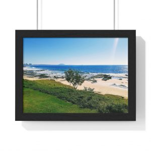 This Mooloolaba Beach View Framed Horizontal Poster is available to buy from the Beach Scenes online store.