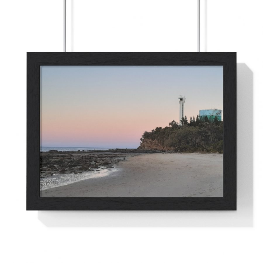 You can buy this Beach Lighthouse Framed Horizontal Poster from the Beach Scenes online store.