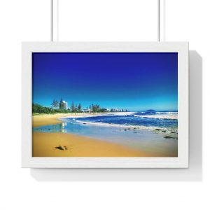 This Alexandra Headlands Beach Framed Horizontal Poster is available to buy from the Beach Scenes online store.