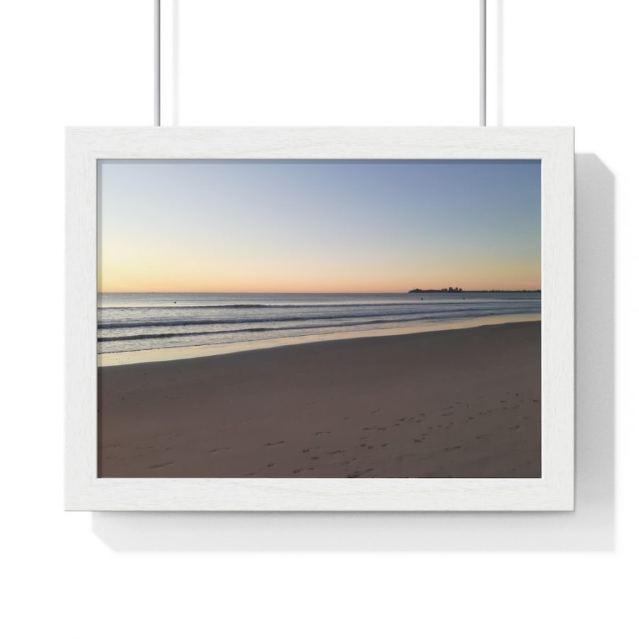 This Alexandra Headlands Beach Sunrise Framed is available to buy from the Beach Scenes online store.