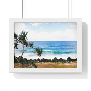 This Crashing Waves at Coolangatta Framed Horizontal Poster is available to buy from the Beach Scenes online store.