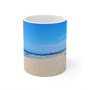This Tranquil Beach Scene Ceramic Mug is available to buy online from the Beach Scenes store.
