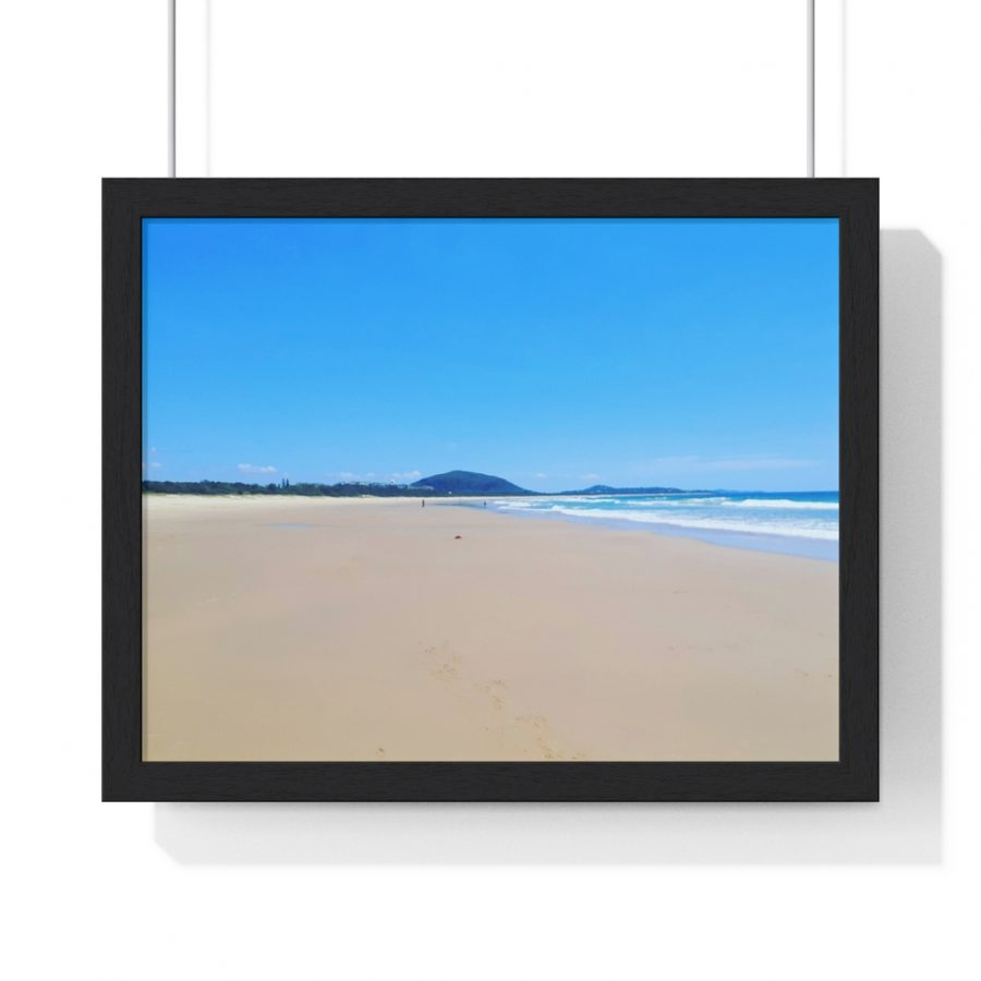 This Beach Expanse at Mudjimba Framed Poster is available to buy at the Beach Scenes online store!