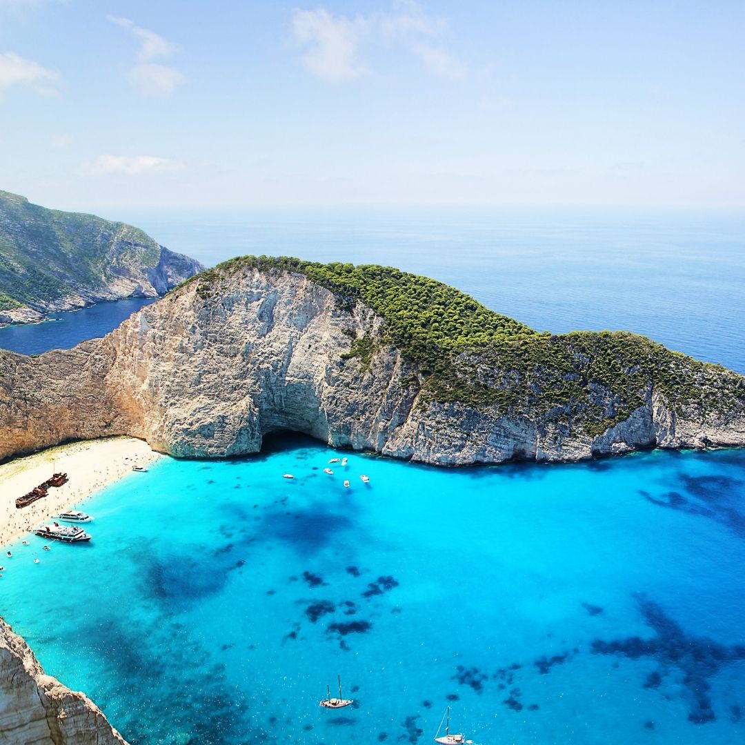 Navagio Beach in Zakynthos is one of the most iconic beaches in the world