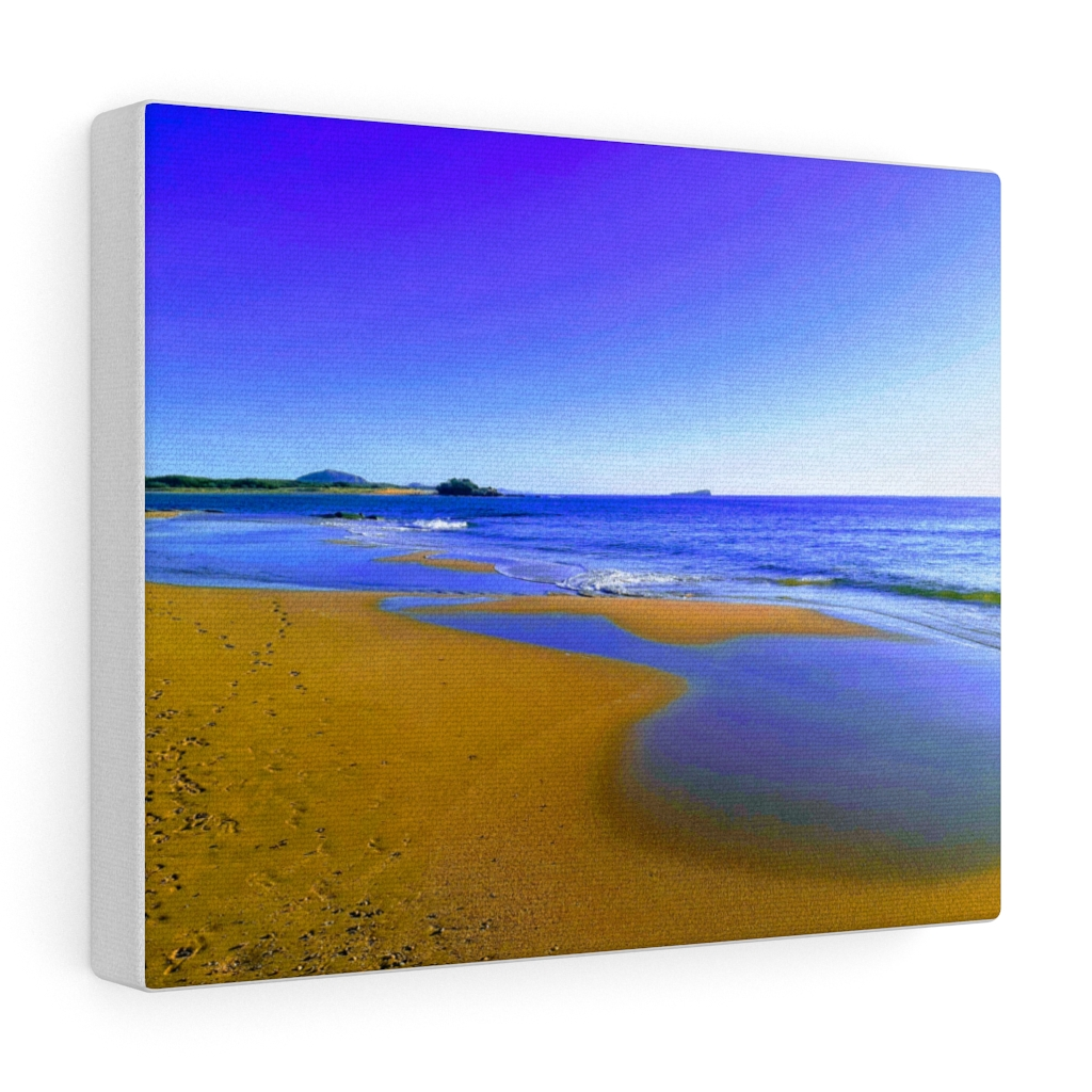 This Blues at Cotton Tree Beach Canvas is one of many cool beach wall art pieces we have available for you to buy for your home decor.