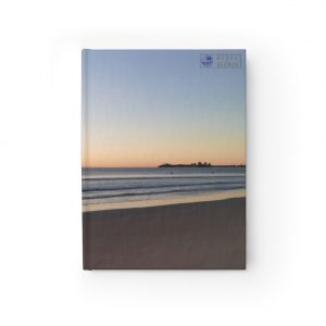 This Alexandra Headlands Beach Sunset Journal is available to buy from the Beach Scenes online store.