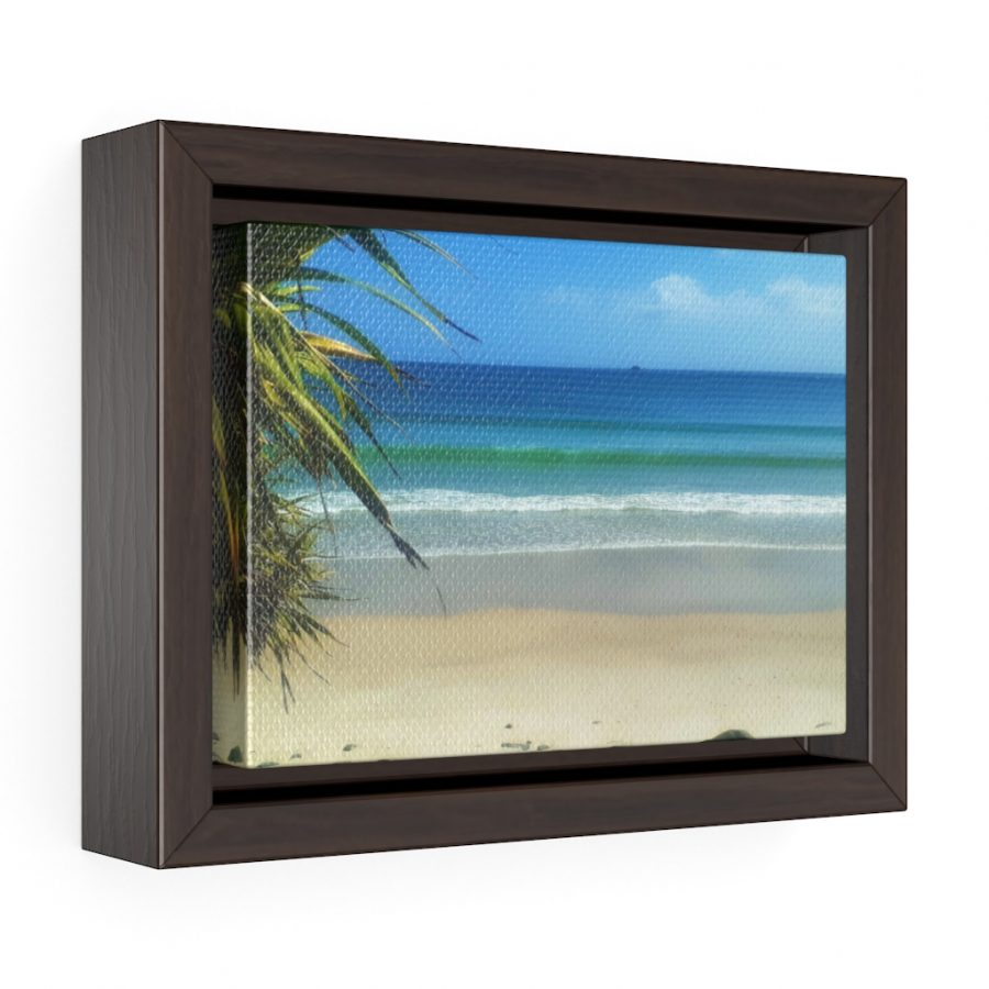 This Byron Bay View Framed Canvas is available to buy from the Beach Scenes online store.