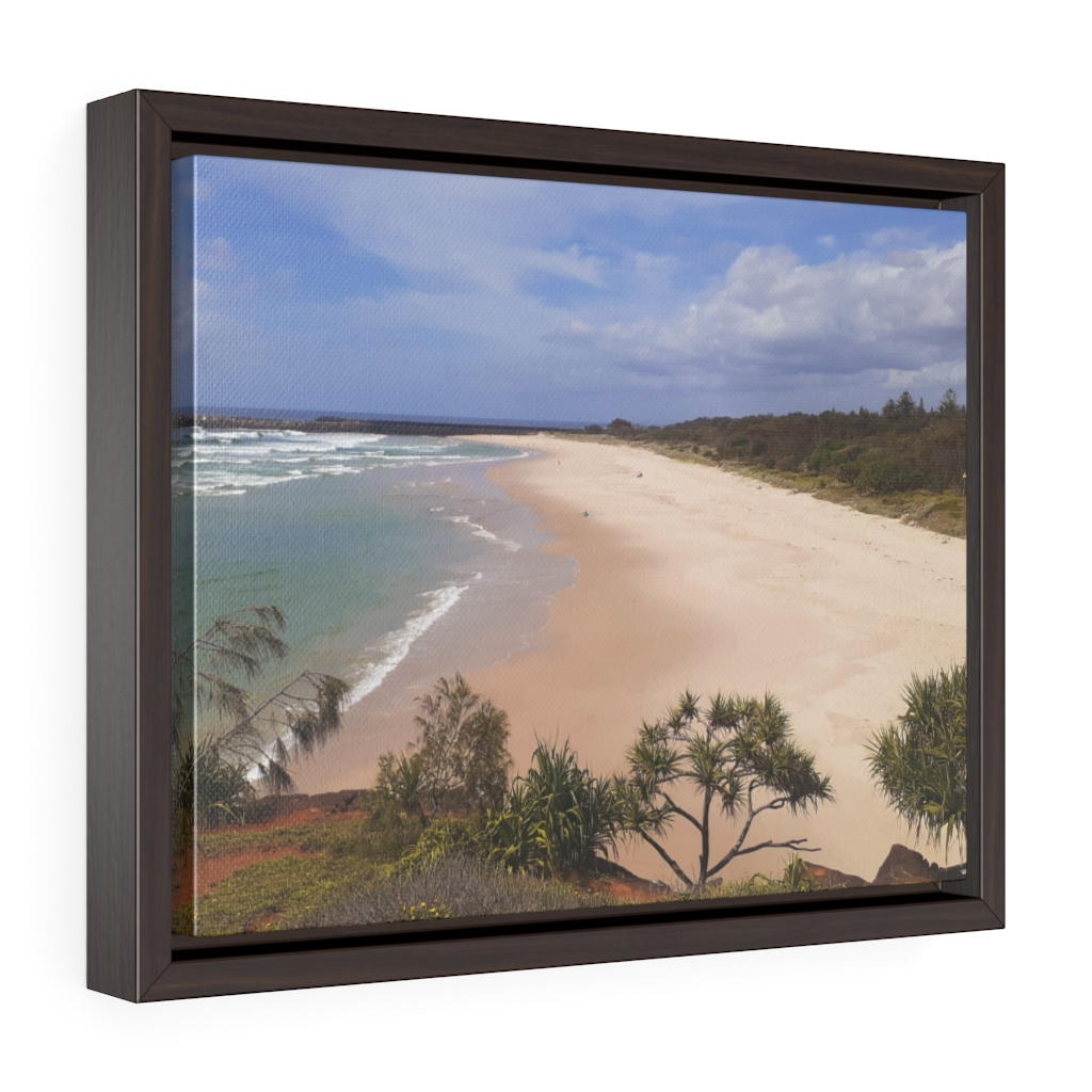 This Ballina Beach Framed Canvas is one of many cool beach wall art pieces we have available for you to buy for your home decor.