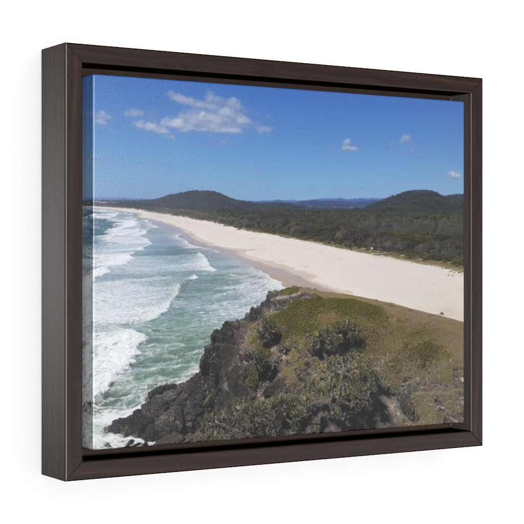 This Cabarita Beach Framed Canvas is one of many cool beach wall art pieces we have available for you to buy for your home deoor.