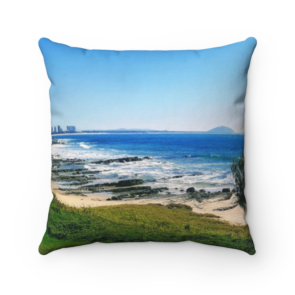 This Mooloolaba Beach Scene Cushion is one of a range of many awesome beach themed products you can buy from the Beach Scenes store.