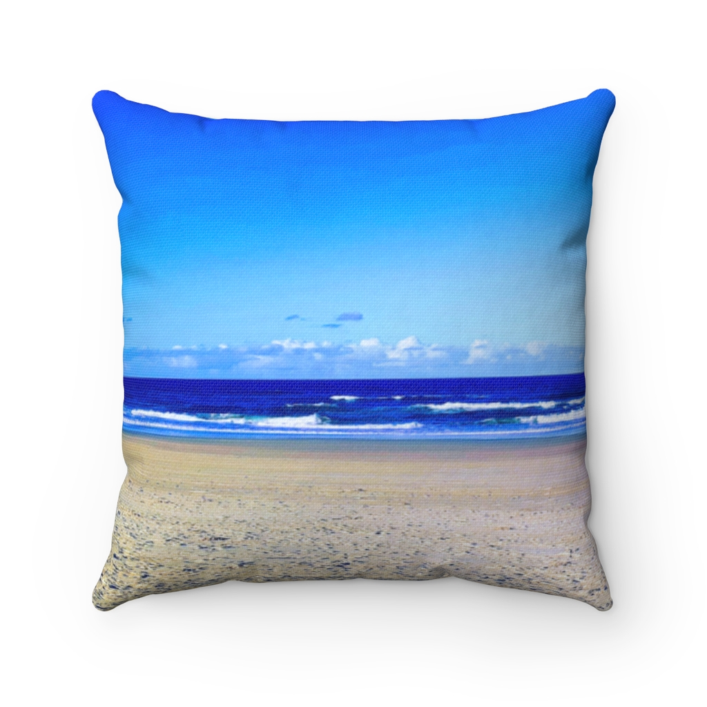 This Deep Blue Sky Beach Cushion is available to buy from the Beach Scenes online store.