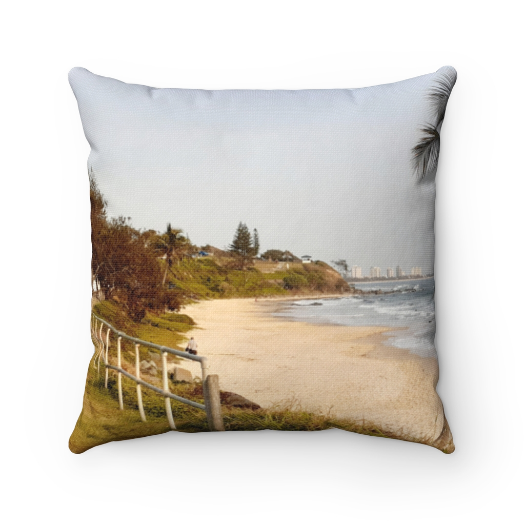 This View at Mooloolaba Beach Cushion is available to buy from the Beach Scenes online store.