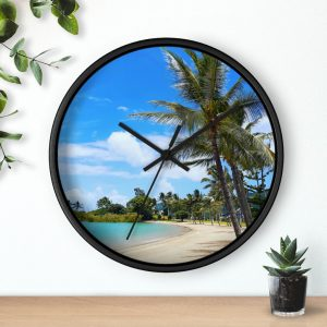 This Airlie Beach Palm Trees Wall Clock is available to buy from the Beach Scenes online store.