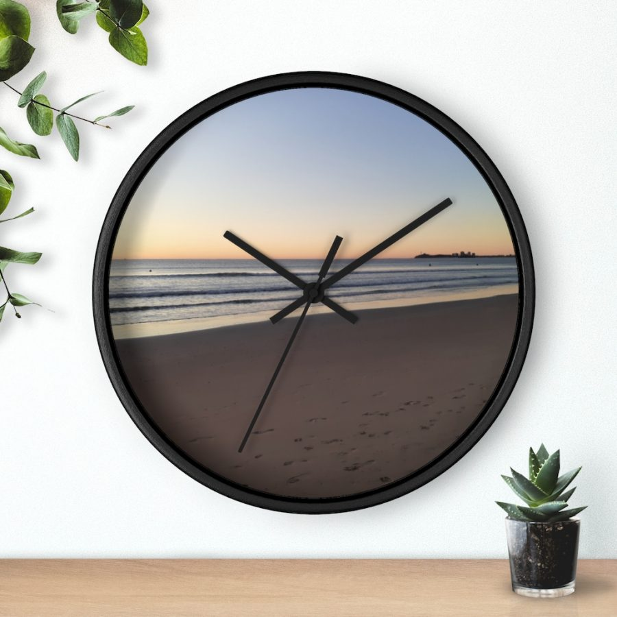 This Alex Headlands Beach Sunrise Wall Clock is available to buy from the Beach Scenes online store.