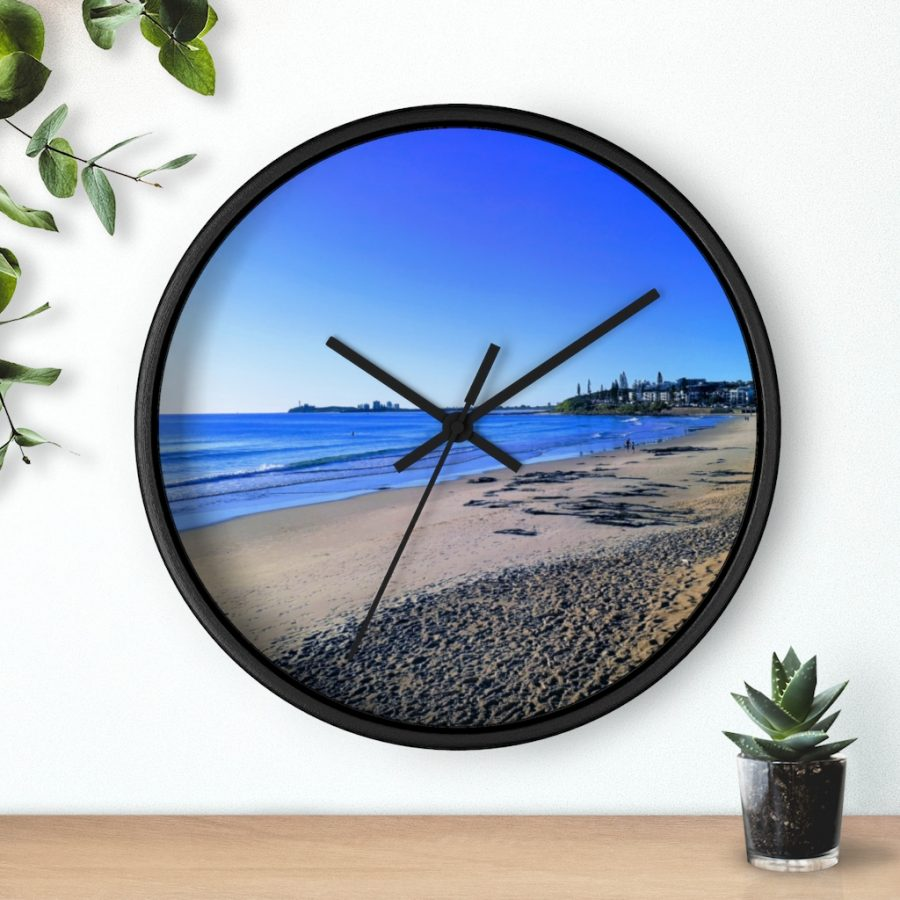 This Blue Ocean Sky at Maroochydore Wall Clock is available to buy from the Beach Scenes online store.