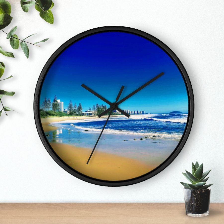 This Alexandra Headlands Beach Wall Clock is available to buy from the Beach Scenes online store.