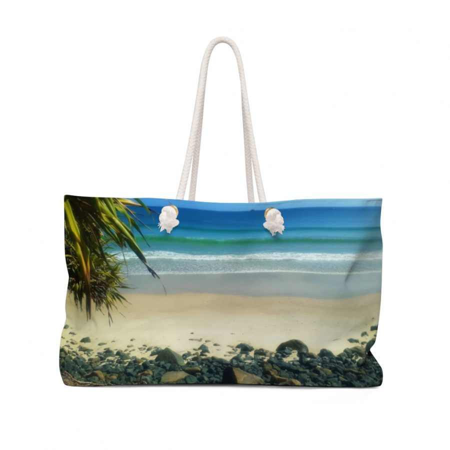 This Weekender Bag Byron Bay View is available to buy from the Beach Scenes online store.