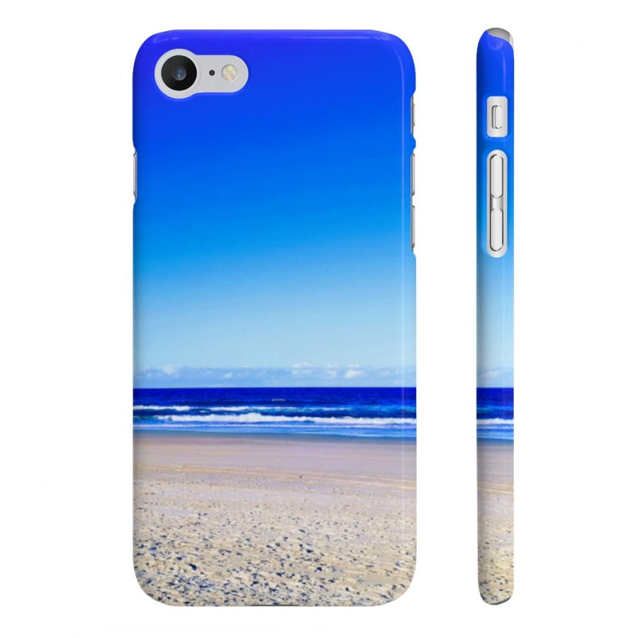 This Wpaps Slim Phone Case Deep Blue Sky Beach is available to buy from the Beach Scenes online store.